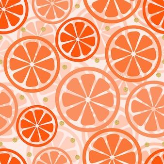 Orangenmuster mit glitzerkreisen