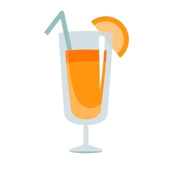 Orangensaft flaches illustrationsdesign isoliert