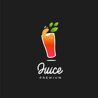 Orangensaft im glas logo
