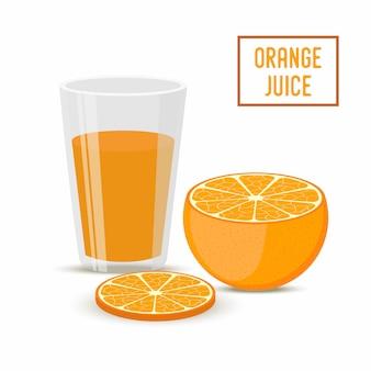 Orangensaft mit früchten. gesundes getränk