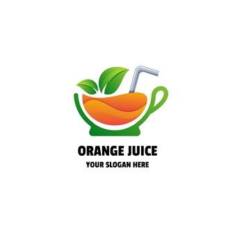 Orangensaft oder smoothie farbverlauf bunte logo vorlage