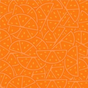 Orangenscheiben-muster-hintergrund-frucht-vektor-illustration