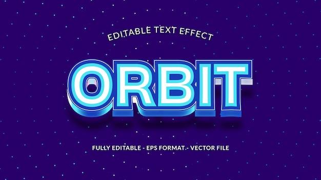 Orbit-bearbeitbarer texteffekt mit anordnung der sterne