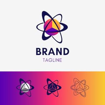 Orbit planet dreieck logo
