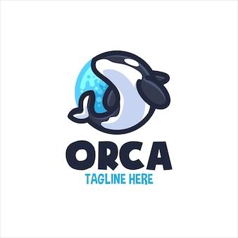 Orca cartoon logo für ihr unternehmen