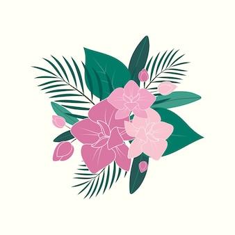 Orchideenblumenillustration