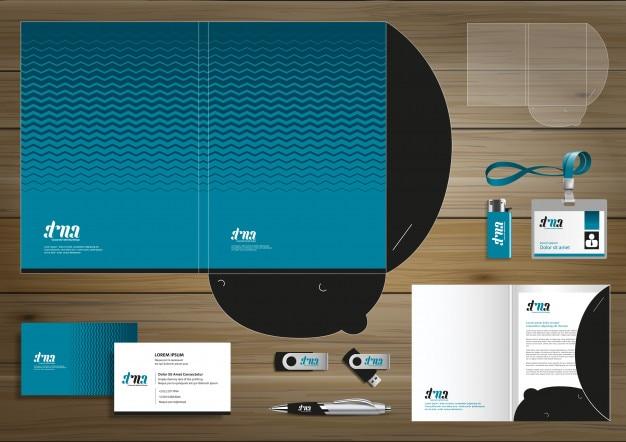 Ordner corporate identity design-förderung briefpapier