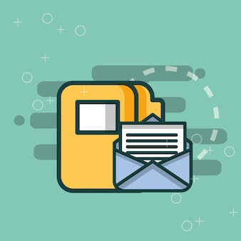 Ordner datei veranstalter e-mail-nachricht büro
