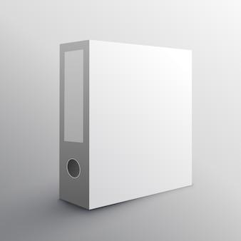 Ordner mockup-design für die aufbewahrung ihrer dokumente