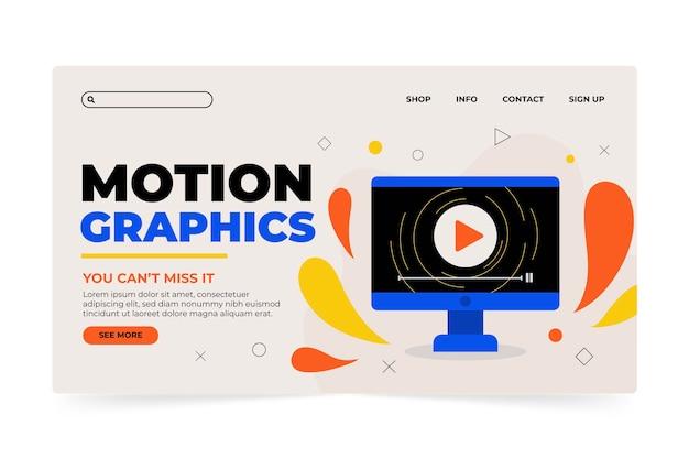 Organic motiongraphics landing page