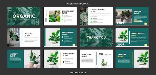 Organic nature mehrzweck-präsentationsdesign