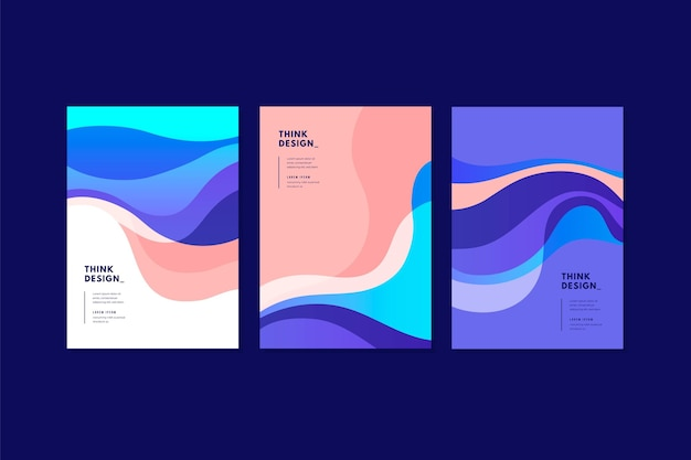 Organic shapes cover pack