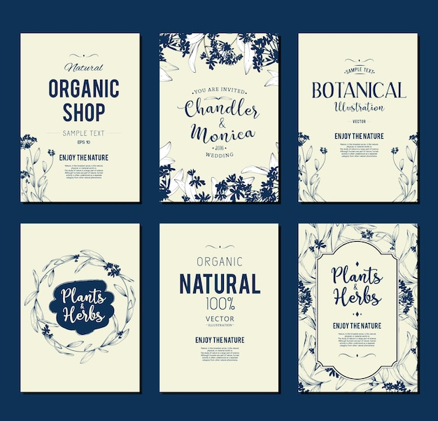 Organic shop flyer sammlung