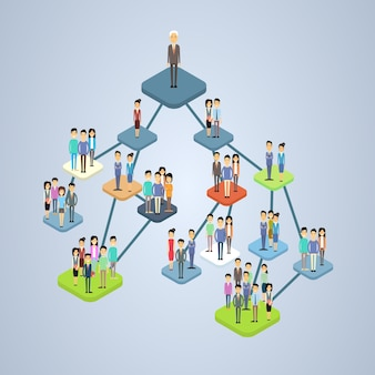Organigramm der organisationsstruktur des unternehmens