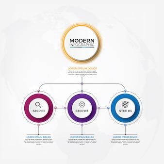 Organigramm-infografiken der geschäftshierarchie.