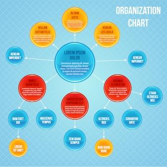 Organigramm infographik vorlage