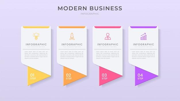 Organigramm-prozessvorlage für 3d-infografik-elementdesign mit bearbeitbarem text und papierschnittstil.