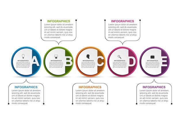Organigrammvorlage des infografikdesigns