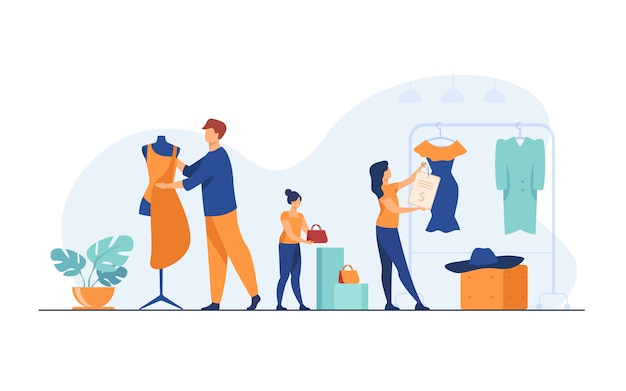 Organisation von verkaufsräumen in boutiquen
