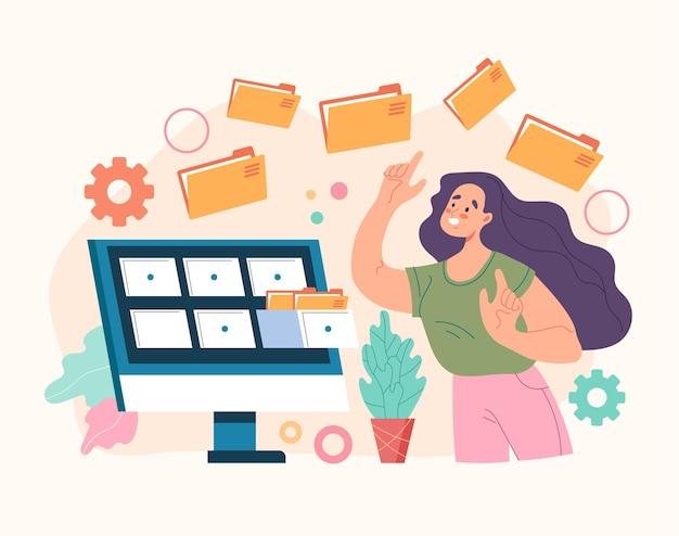Organisationskonzept für das bestellmanagement für datenbankdatendateien