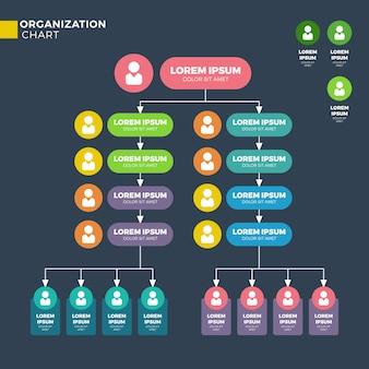 Organisationsstruktur des unternehmens, hierarchiediagramm