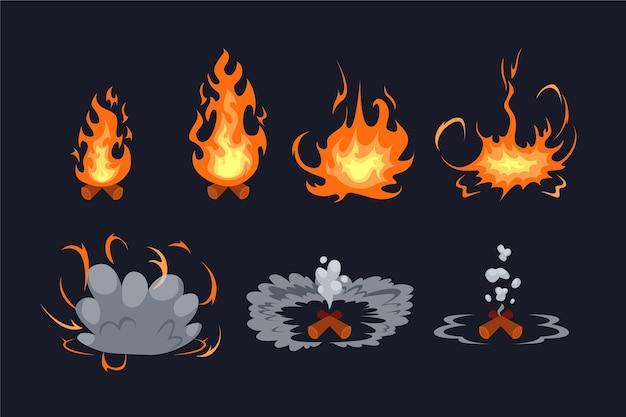 Organische flache animationsrahmen für element