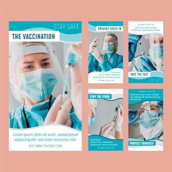 Organische flache coronavirus-instagram-geschichten-sammlung