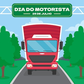 Organische flache dia do motorista illustration
