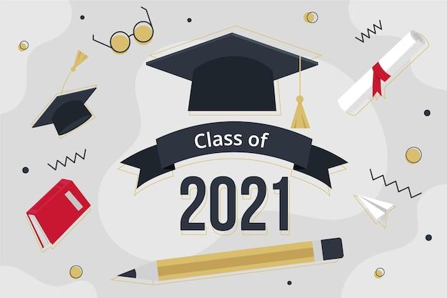Organische flache klasse von 2021 illustration