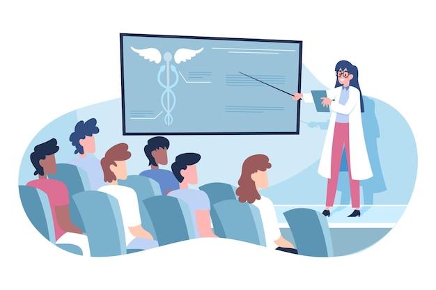 Organische flache medizinische konferenz