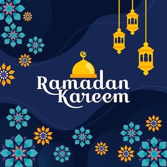 Organische flache ramadanillustration