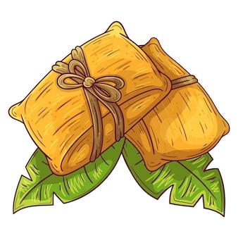 Organische flache tamales illustriert