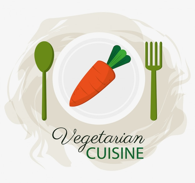 Organische nahrungsmittelplatte und löffel der karotte vegetarische küche