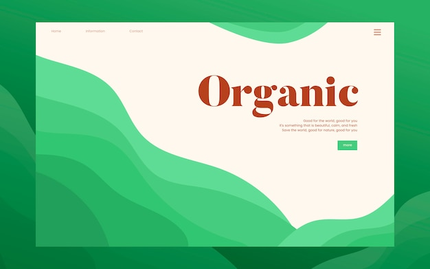 Organische pflanzliche informationswebsitegraphik