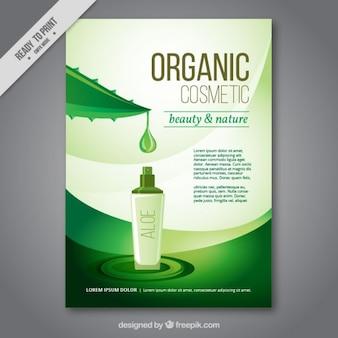Organische schönheit kosmetische flyer
