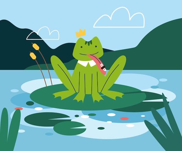 Organischer flacher frosch illustriert