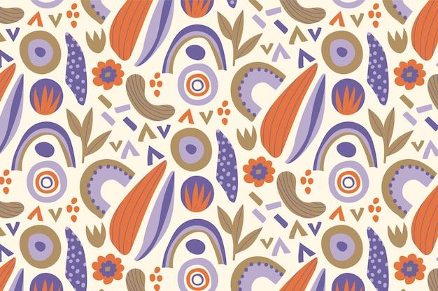 Organisches flaches abstraktes elementmuster