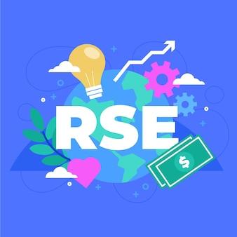 Organisches flaches illustriertes rse-konzept Kostenlosen Vektoren