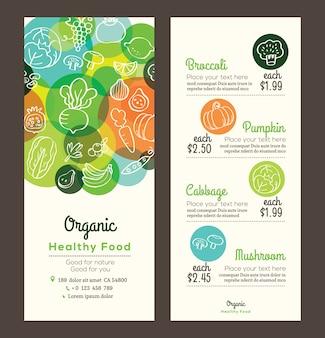 Organisches gesundes essen
