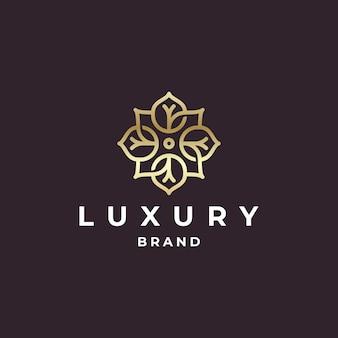 Organisches goldenes logo-design der luxusmarke