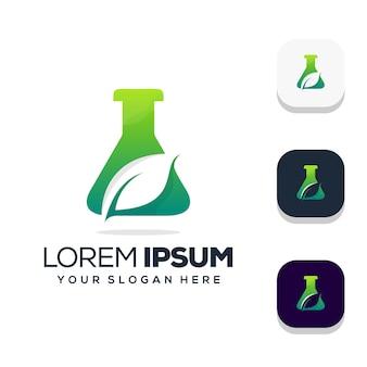Organisches grünes bio-laborlogo-design