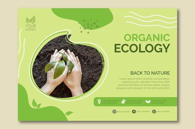 Organisches ökologie-schablonendesign