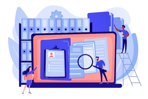 Organisiertes archiv. dateien in der datenbank suchen