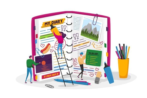 Organizer, notizbuch für speicher oder nachrichten