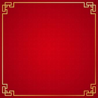 Orientalische chinesische grenzen auf rotem hintergrund