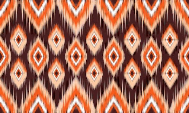 Orientalischer ethnischer nahtloser mustervektor traditioneller hintergrund design für teppich, tapete, kleidung, verpackung, batik, gewebe, vektorillustrationsstickereiart.