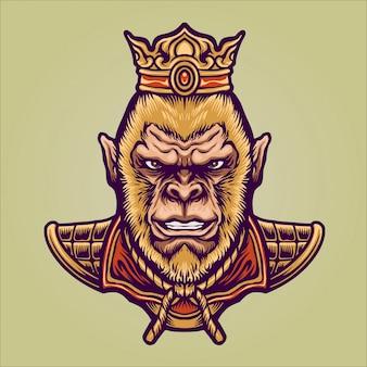 Orientalischer könig affencharakter