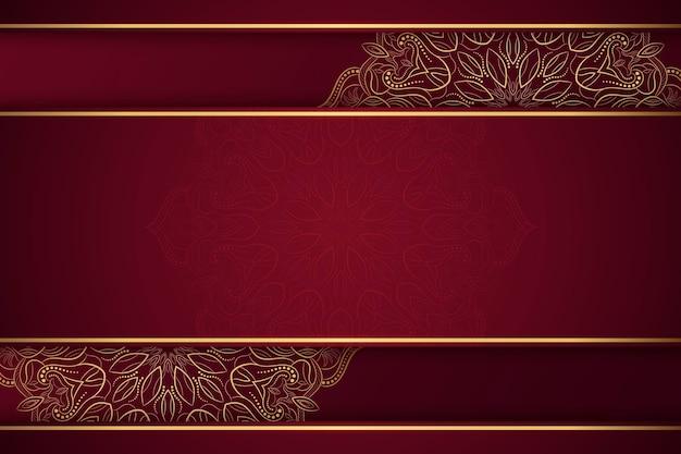Orientalischer mandalahintergrund mit leerem raum