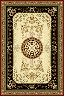 Orientalischer persischer türkischer teppich bereit zur produktion
