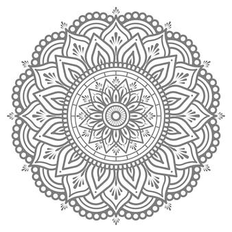 Orientalischer stil der mandalaillustration für abstraktes und dekoratives konzept